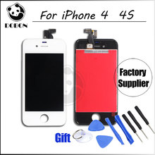 Discount  AAA Quality Touch Screen Display Digitizer Assembly For iPhone 4 4s LCD Display Black/White All Parts