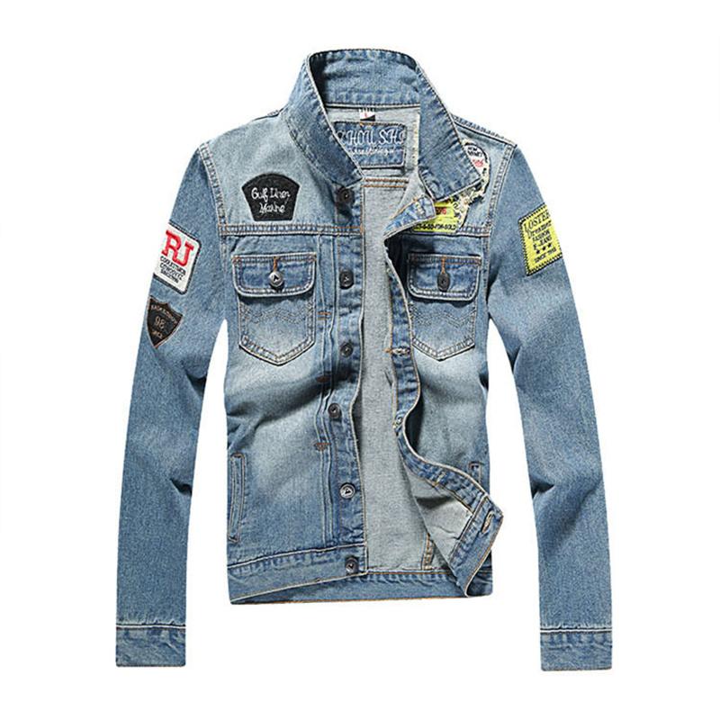Denim Jacket Men 2016 Biker Jean Jacket Mens Designer Spring Autumn Male Coat Casual Windbreaker Fashion Jaqueta Masculina Q112(China (Mainland))