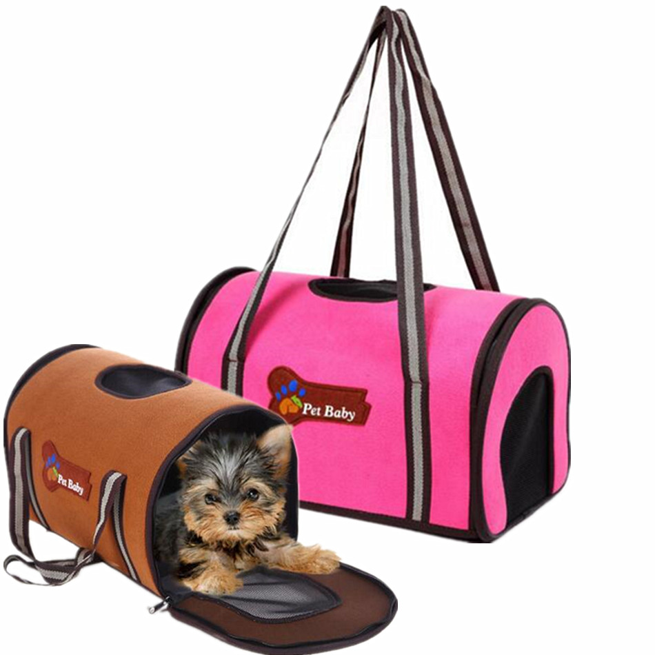 Airline Cute Pet Carrier Dog Slings Shoulder Bag For Carrying Cat Puppy Travel Backpack For Small Medium Animals Pink Blue Brown(China (Mainland))