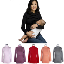 Maternity clothes Winter and Autumn Breastfeeding Top Thermal Heating Cotton fiber Nursing tops for Pregnant Women Hot wholesale(China (Mainland))