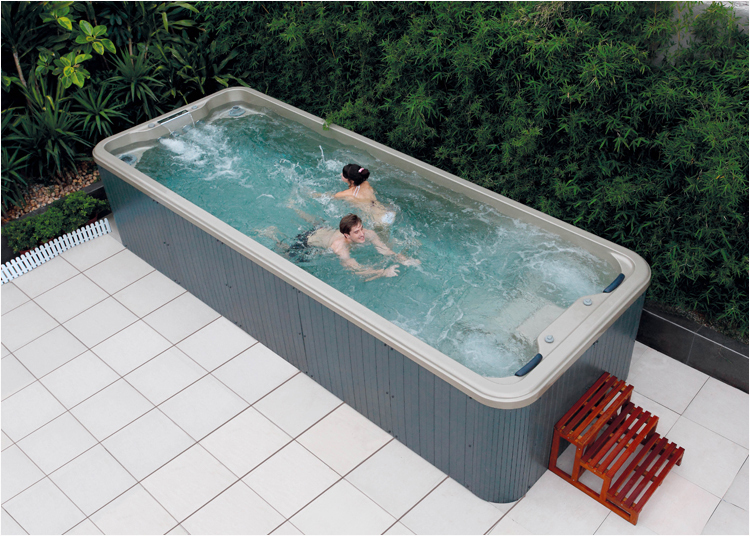 Luxurious acrylic outdoor hot tub,swimming spa including jacuzz function ,air bubble ,led light bath,free shipping SPA-06B(China (Mainland))