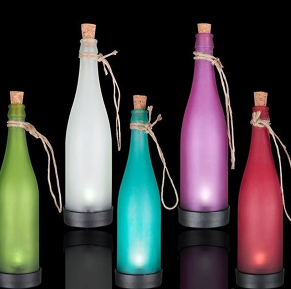 New colorful Solar bottle lights, ip44 waterproof outdoor lawn light, LED plastic bottles modeling lamp, 23.5 * 7.8 * 7.8cm, 5x.(China (Mainland))