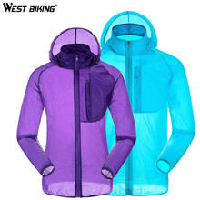 Buy WEST BIKING Waterproof Windproof Skin Jacket Quick Dry Breathable Anti UV Cycling Bicycle Raincoat Jersey Bike Ciclismo Clothing for $15.03 in AliExpress store