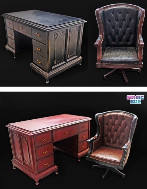 MAGIC BOX 1/6 Scale Office Desk &amp; Chair Set A-Black / B-Brown Scene Accessories for 12 Action Figure Toys Collection Gift<br><br>Aliexpress