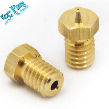 5 ШТ. 3D Принтер Части Резьбовые Сопла 0.2/0.25/0.3/0.35/0.4 мм/0.5/0.6/0.8/1.0 1.75 мм Накаливания Для E3D V5/V6 Экструдер Часть M6