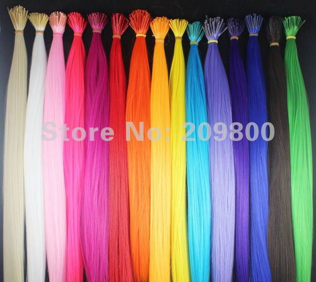 NEW arrival !! 16'' long stcik tipped synthetic rooster grizzly feather hair extension 150s/set,15 colors