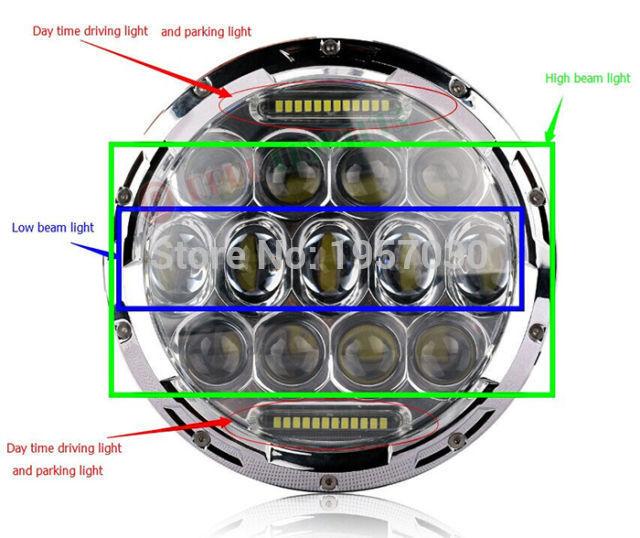 Фотография 75w led headlight! 75w led driving light for car , 4*4 round led headlight for car with DRL