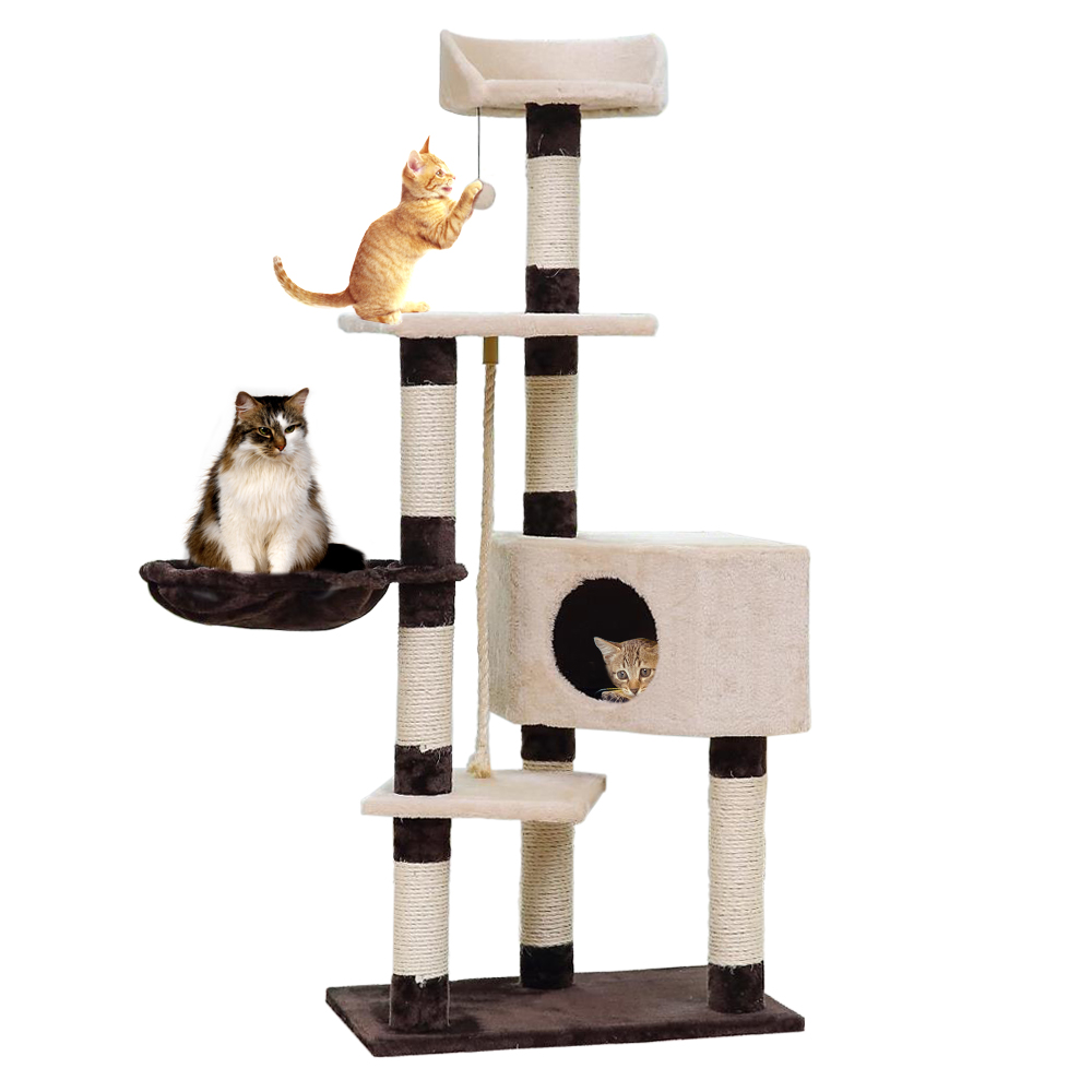 Domestic Delivery Cat Toys Cat House Bed Hanging Balls