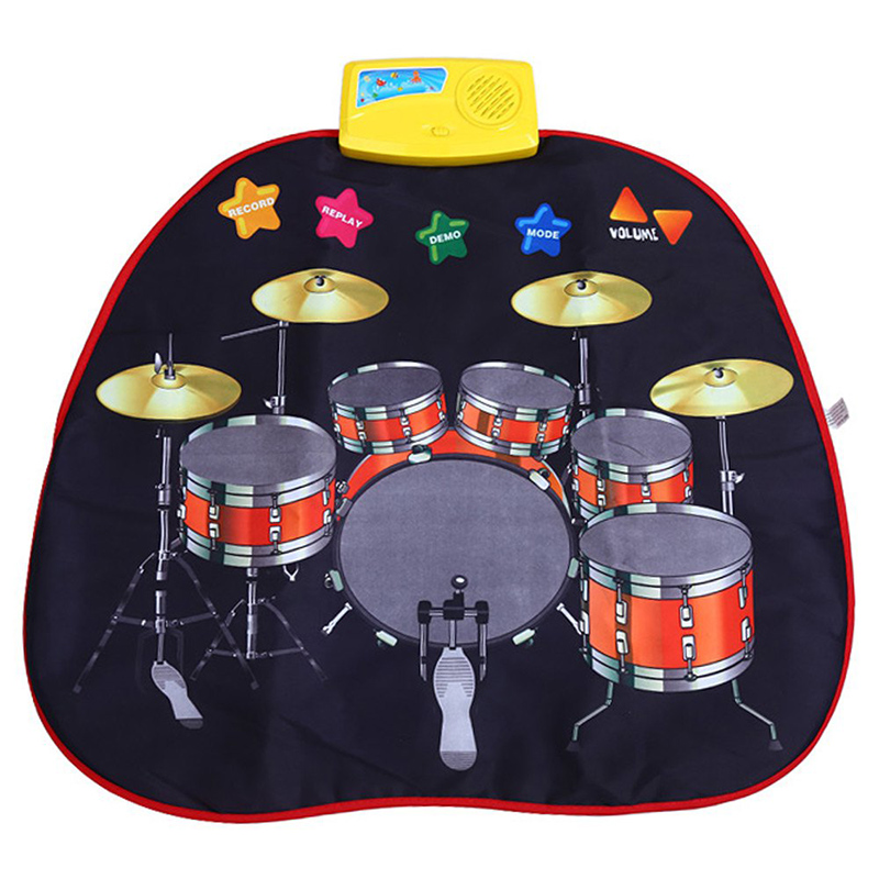 Kids Toys Musical Game Cool Drums Percussion Set Education Toys Tambourine Touch Type Electronic Mat Play Toy Low Price Selling(China (Mainland))