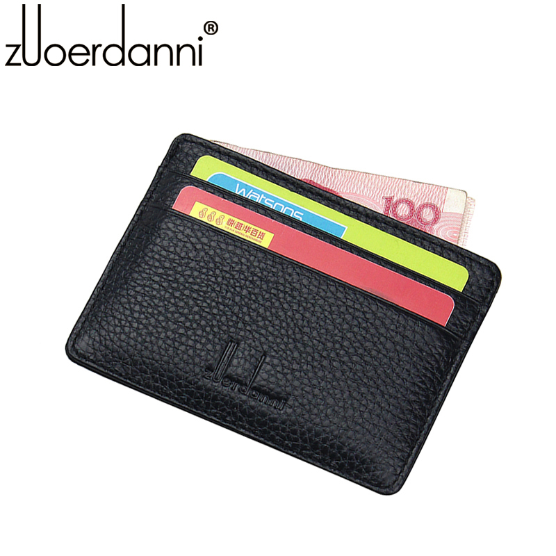 2015 Limited Credit Card Holder Passport Cover Zuoerdanni Men's And Women's Leather Card Id Holder Wallet With 4 Slots Purse(China (Mainland))