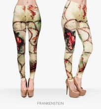 New Fashion workout Leggings Digital 3D FRANKENSTEIN PATTERN printed Women Leggings For Fashion Dress(China (Mainland))
