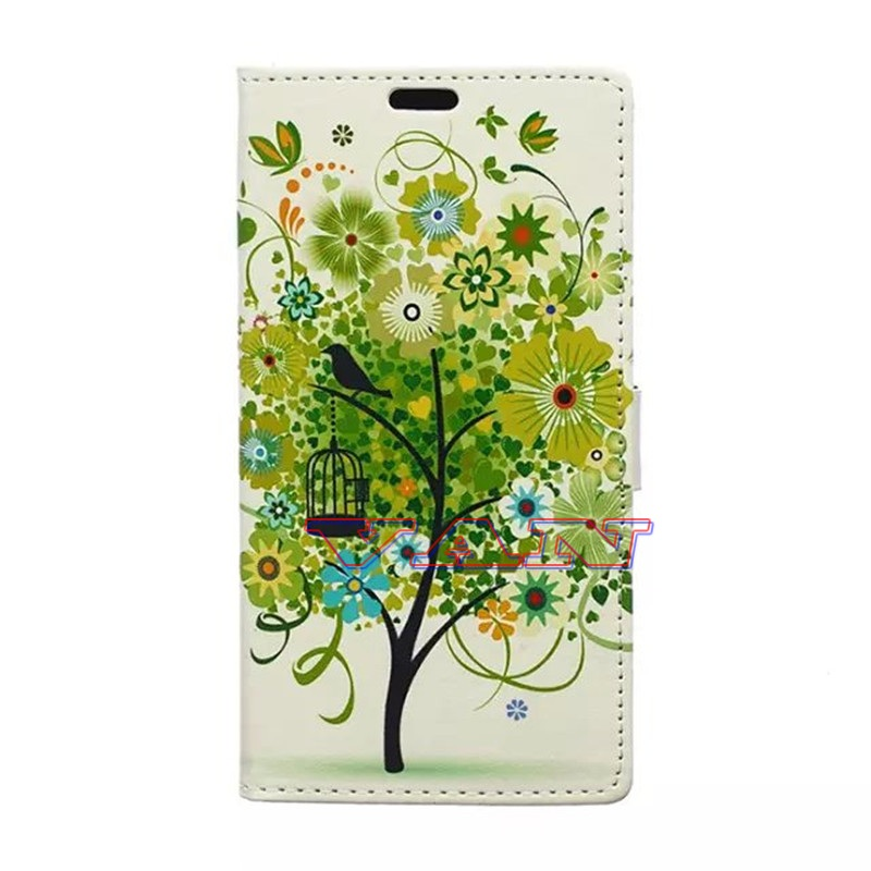 green trees&Birdcage Huawei Honor 4C Huawei G Play Mini android phone cases Flip card holder&wallet huawei case honor 4C cover(China (Mainland))