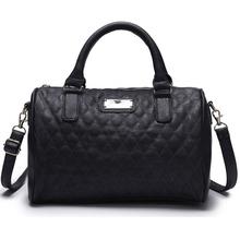 fashion quilted women tote bag vintage shoulder bag 2015 new crossbody bag bolsa female bowling handbag