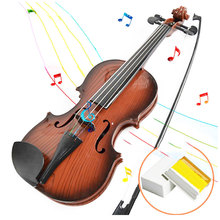 2016 New Arrival Earlier Children Kids Beginners Instrument Adjust String Simulation Violin Musical Toy Free Shipping #52298(China (Mainland))