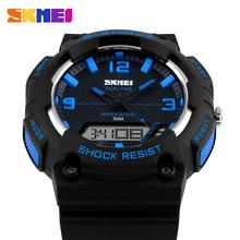 Nuevo reloj Digital hombres reloj análogo de silicona analógico LED Digital fecha alarma hombres de pulsera deportivo militares s reloj de choque