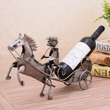 The carriage of wine rack cabinet Decor creative Home Furnishing modern new house model room kitchen decoration wedding gift(China (Mainland))