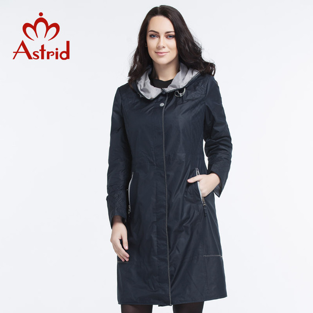 Astrid 2016 New Summer Women High Quality Fashion Trench Coat For Women Hooded Plus Size Outwear L-5XL AS-2615