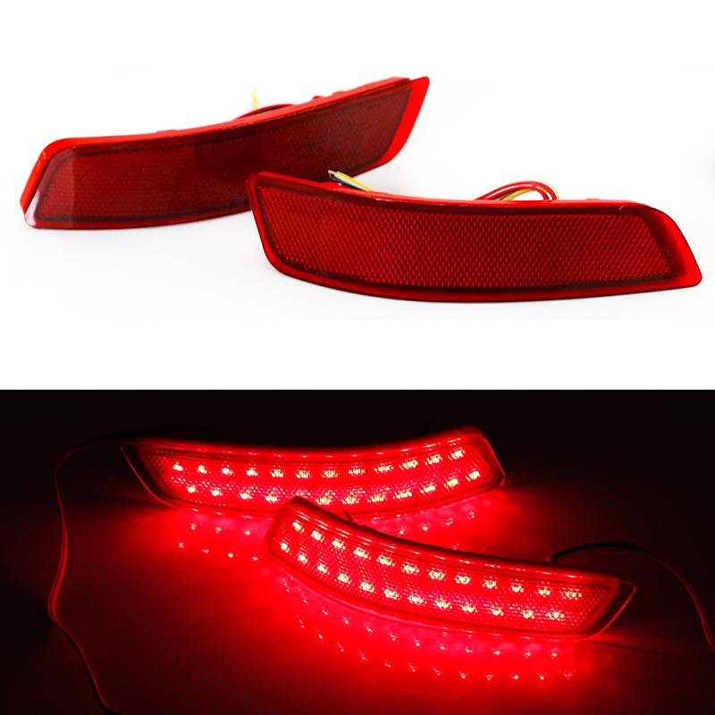 Car Red Len Rear Bumper Reflector LED Stop Brake Light Turn Signal Lamp For Toyota Carolla 2014/ Lexus GS ES 250/350/300h/450(China (Mainland))