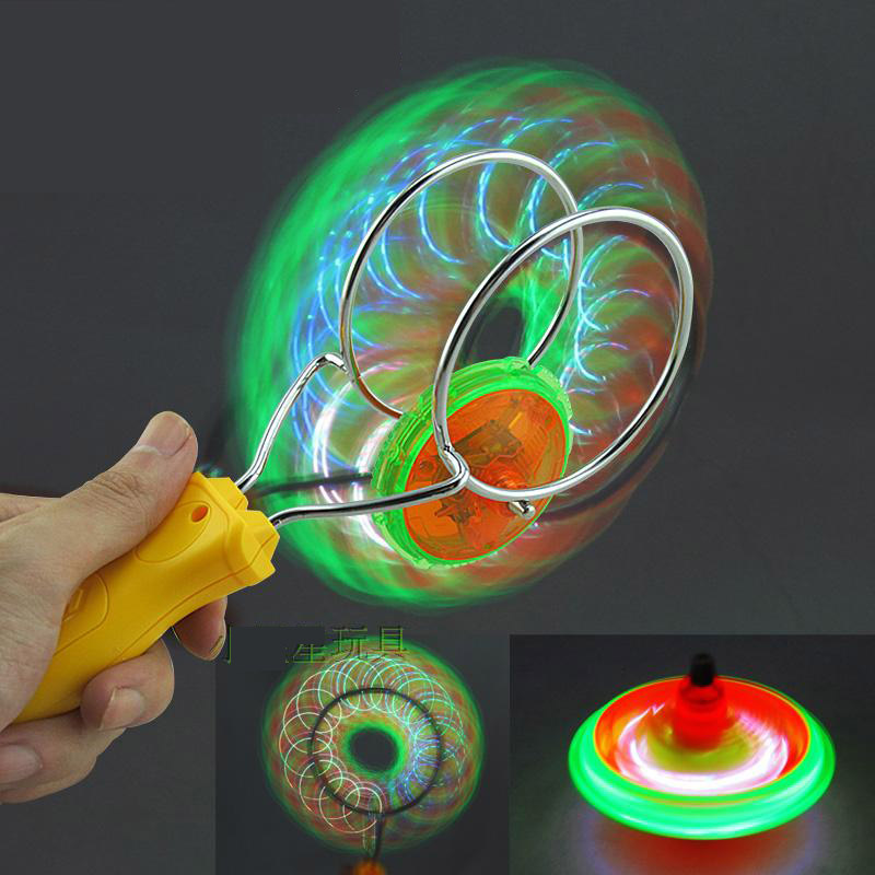 Children's magic toy gyroscope hand yo-yo fun and creative family games spinning magnetic LED gyroscope beyblade(China (Mainland))