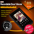Strong IR Infrared Eye Door Doorbell Peephole Viewer Camera Video Door Viewer With Motion Sensor
