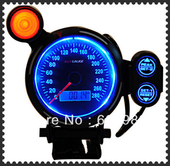 3.75 inch MPH guage,speedometer for car blue/red/white colors odometer