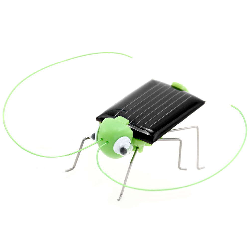 Solar Energy Powered Cricket Toys Robot Insect Grasshopper Kids Gift Educational Learning Solar Bug Mini with Motor Green(China (Mainland))