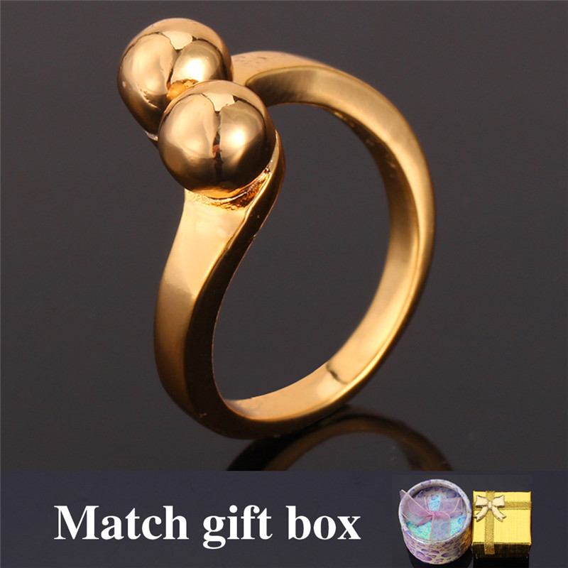 Vintage Ring New Minimalist 18K Real Gold Plated Rings For Women With GIFT BOX Wholesale '18K' Stamp Gold Ring Men Jewelry R815(China (Mainland))