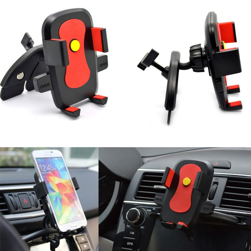 New 360 Degree Rotating Car CD Dash Slot Mobile Phone Holder Mount for iPhone 6 5S 5C 4S For Samsung Phone Holder(China (Mainland))