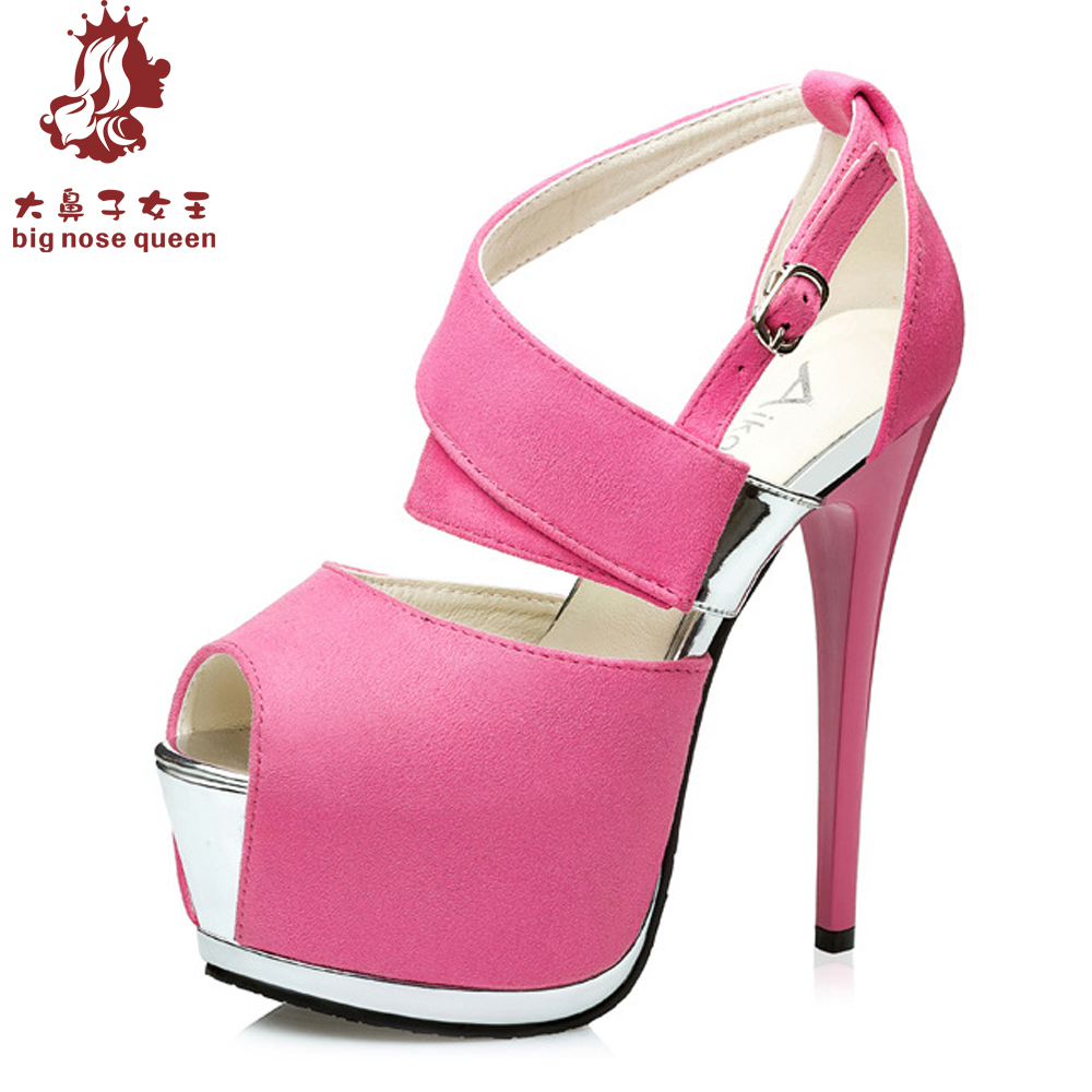Shiny Pink Heels