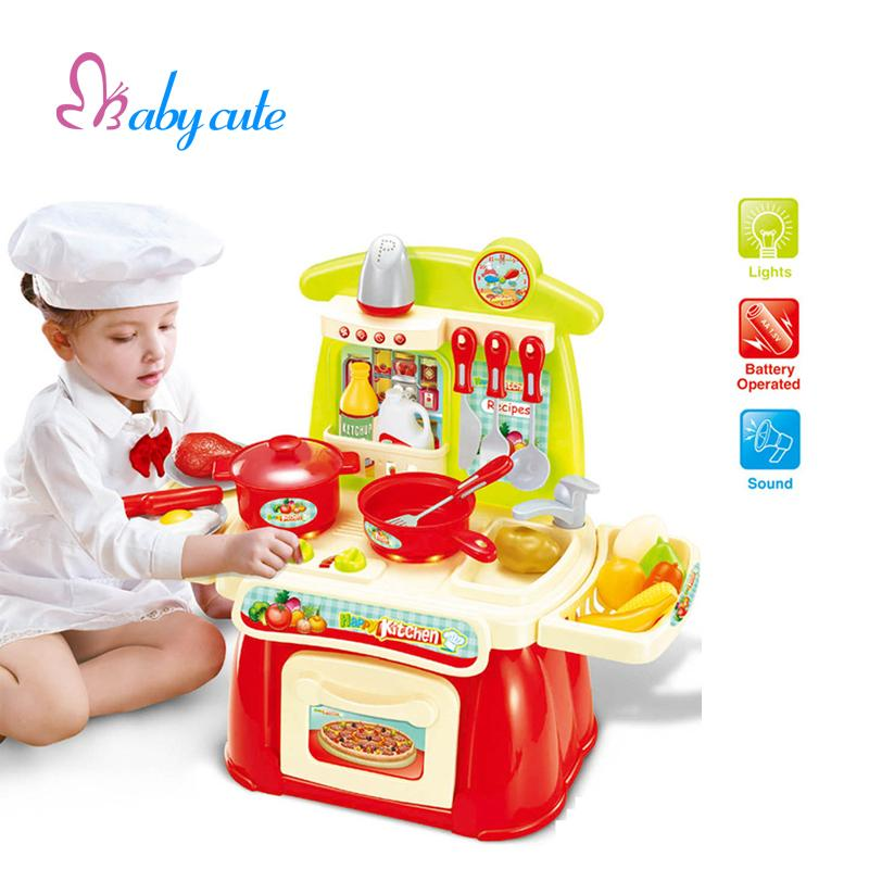 Buy kitchen paste cut handle noodle press machine red at for Kitchen set for babies