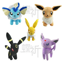28cm Pokemon Plush Toys EEVEE/VAPOREON/JOLTEON/ESPEON/UMBREON Japanese Classic Anime Stuffed Doll Plush Doll Toy Free Shipping