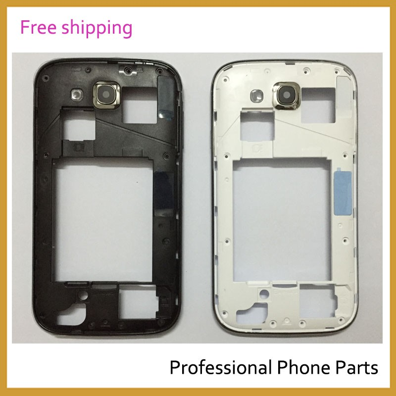 10 Pcs /Lot Original Phone Case Middle Bezel Plate Frame For Samsung i9082 Galaxy Grand Duos Housing With Camera Glass+Button