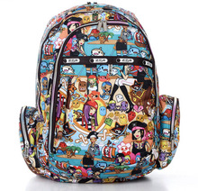 2016 Small Printed Backpack for Women Hot Sale Canvas School Bags Fashion Women's Bags Rucksack for Girl Student(China (Mainland))
