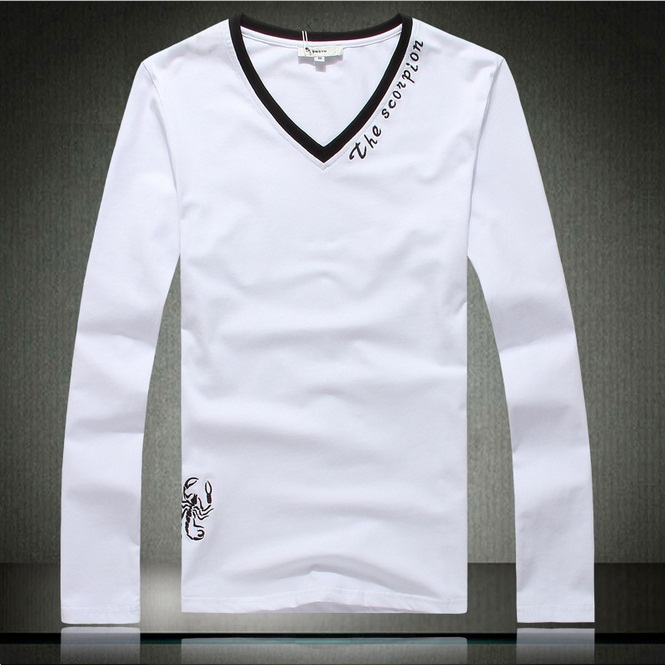 High quality new 2013 men s long sleeve o neck t shirt for Top designer t shirt brands