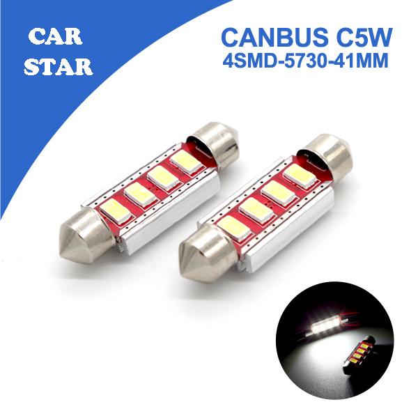 100pcs Car Interior Led 39/41mm C5W C10W Canbus 4SMD 5730 DC12V Dome Festoon Light Pure White Error Free Led Light For Car Led <br><br>Aliexpress