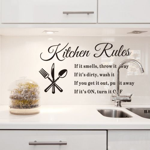 Kitchen wall quotes and sayings quotesgram for What kind of paint to use on kitchen cabinets for vinyl wall art stickers