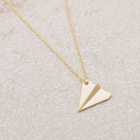 20 pics/lot wholesale colar one direction fashion Paper Airplane Collectibles Pendant Necklace Bronze Silver(China (Mainland))