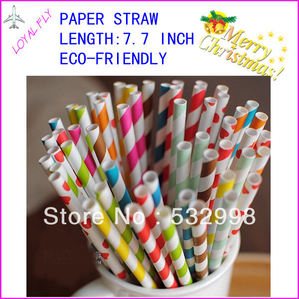 free shipping 1000pcs/lot strip chevron and Polka Dot drinking paper straws, colorful drink paper straws 140 kinds color(China (Mainland))