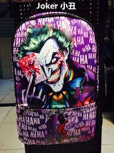 The Joker Batman Comics Bag Leather Backpack School Travel Book Bag Fashion Hot(China (Mainland))