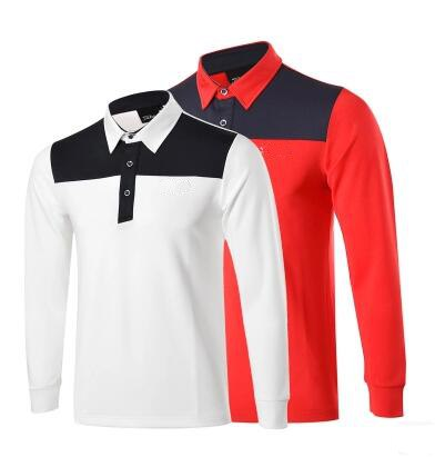 FREESHIPPING 2016 New arrival men's golf tshirts full sleeves polo shirts spring and autumn quick-drying 7 colors size S-2XL(China (Mainland))
