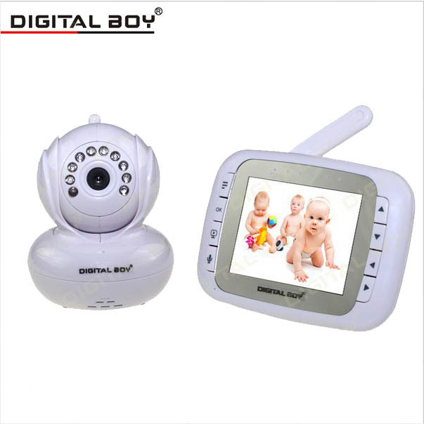 2015 video wireless baby monitors 3 5 inch lcd digital audio video baba electronica nightvision. Black Bedroom Furniture Sets. Home Design Ideas