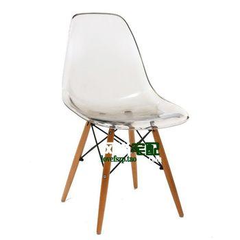 Eames chaise crystal clear acrylique en plastique chaises ikea simplicit l - Ikea chaise plastique ...