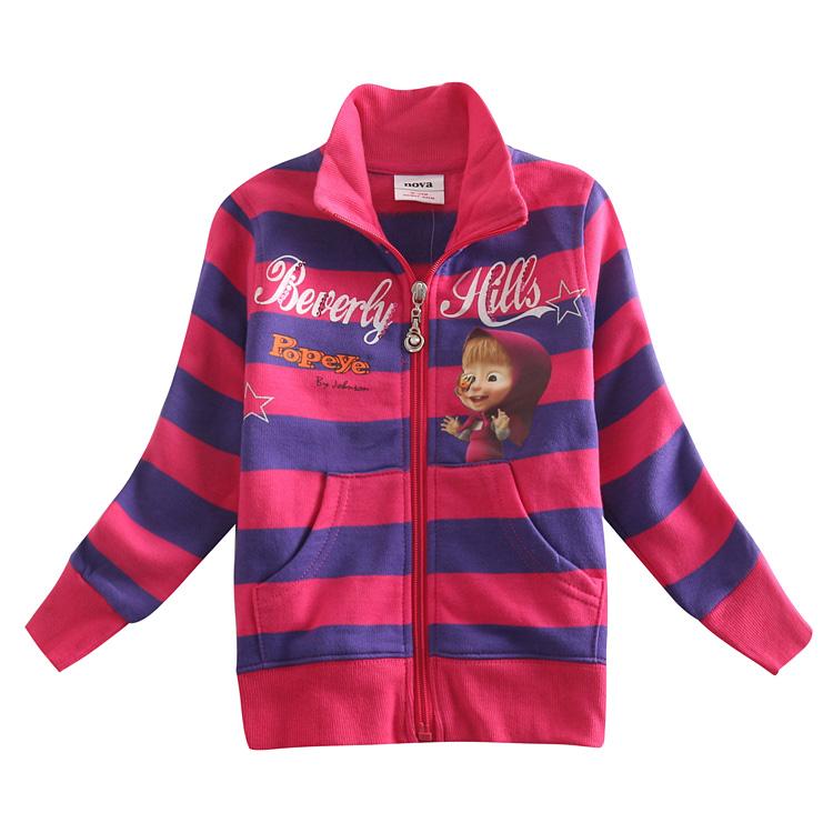 Здесь можно купить  5pcs/lot fashion girls jacket autumn children outerwear  stripe girl coat for girls jackets spring nova brand  girls clothes  Детские товары