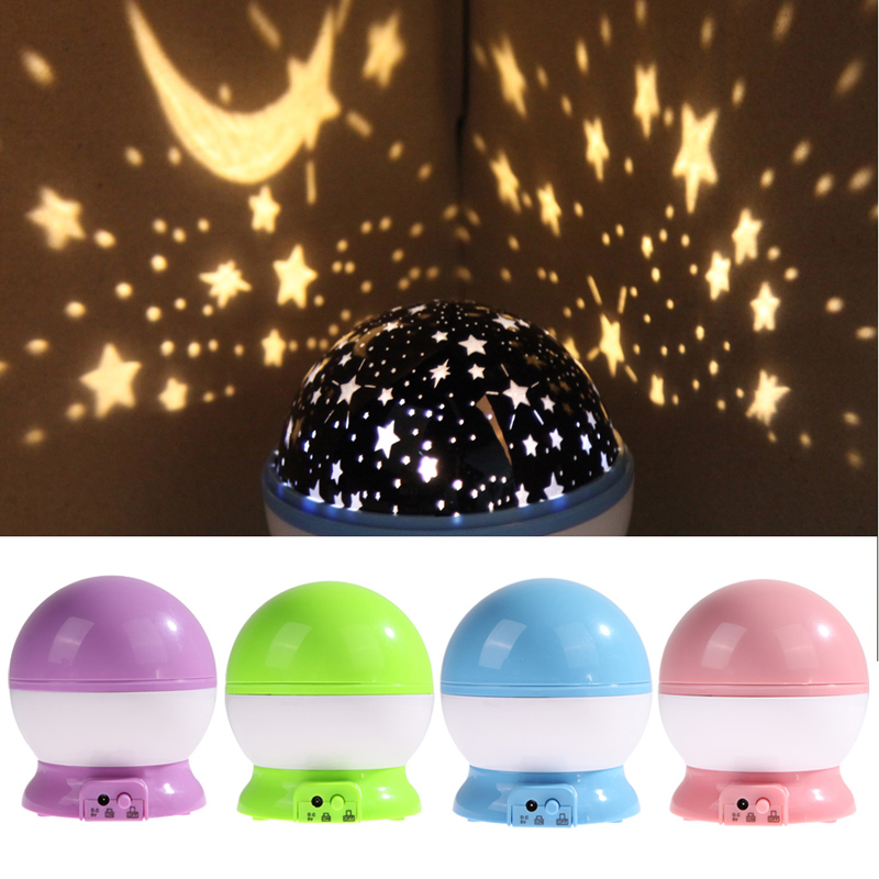 Newest Romantic Star Sky Projector Night Light Rotatable Cosmos Starry Lamp USB AAA Battery Operated Room Decoration Lights(China (Mainland))