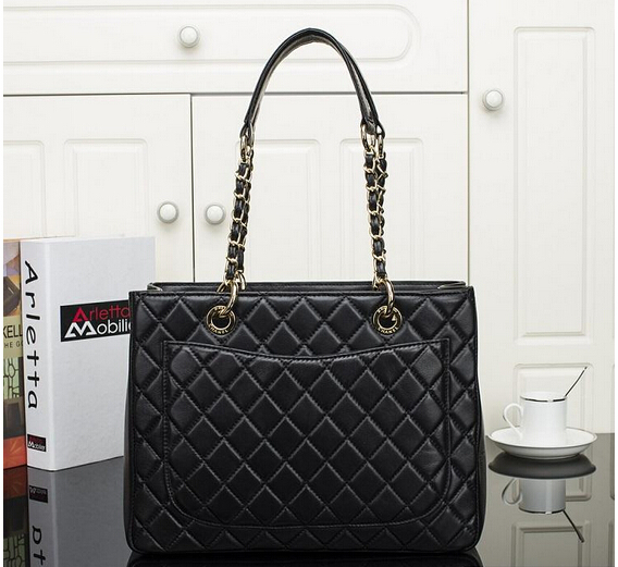 2015 caviare lychee leather bag small plaid chain one shoulder genuine handbag women - TKK shoe shop store