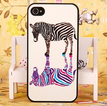 For for iphone 4 phone case 4s shell fashion animal zebra print mobile phone case for apple 4 protective case