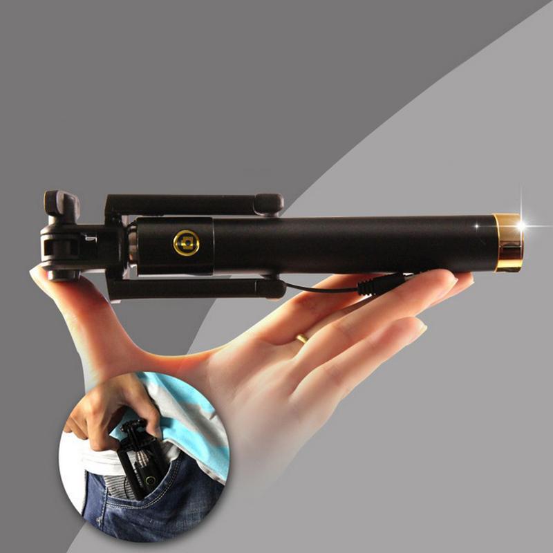 Селфи палка самостоятельно артефакт дальней точке выстрелил три поколения складной проволоки, съемка провода от мобильный телефон автоспуска рычаг