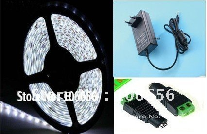 40% off rgb/white/ww waterproof DC12v flexible led strip light SMD3528 4.8w/m 60led/m 300led 5m+connector/controler+power supply