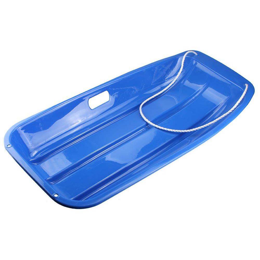 JHO-Plastic Outdoor Toboggan Snow Sled for Child, 35-Inch, Blue(China (Mainland))