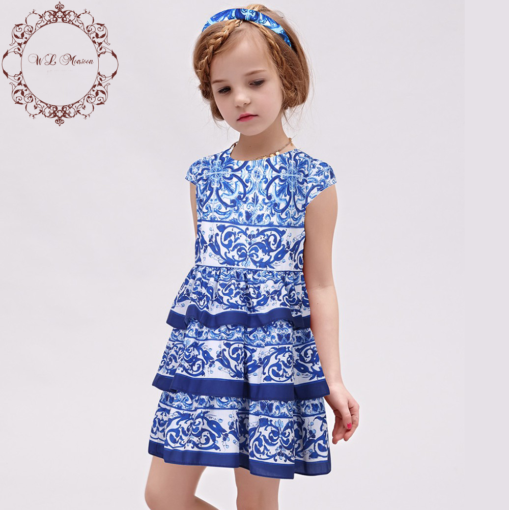 Luxury Robe Reine Des Neiges European Floral Girl Dresse Full Sleeve Dress Kids Dobby Girls Dresses Pattern Baby Girl Clothes<br><br>Aliexpress